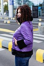 """Стеганая женская зимняя куртка """"Wind"""" с мехом и четвертным рукавом (большие размеры), фото 3"""