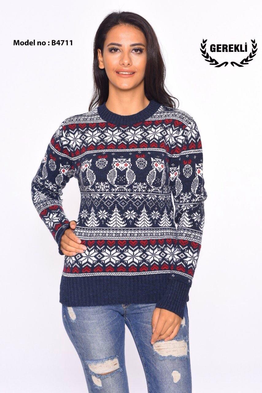 Теплый свитер зимняя вязка Турция