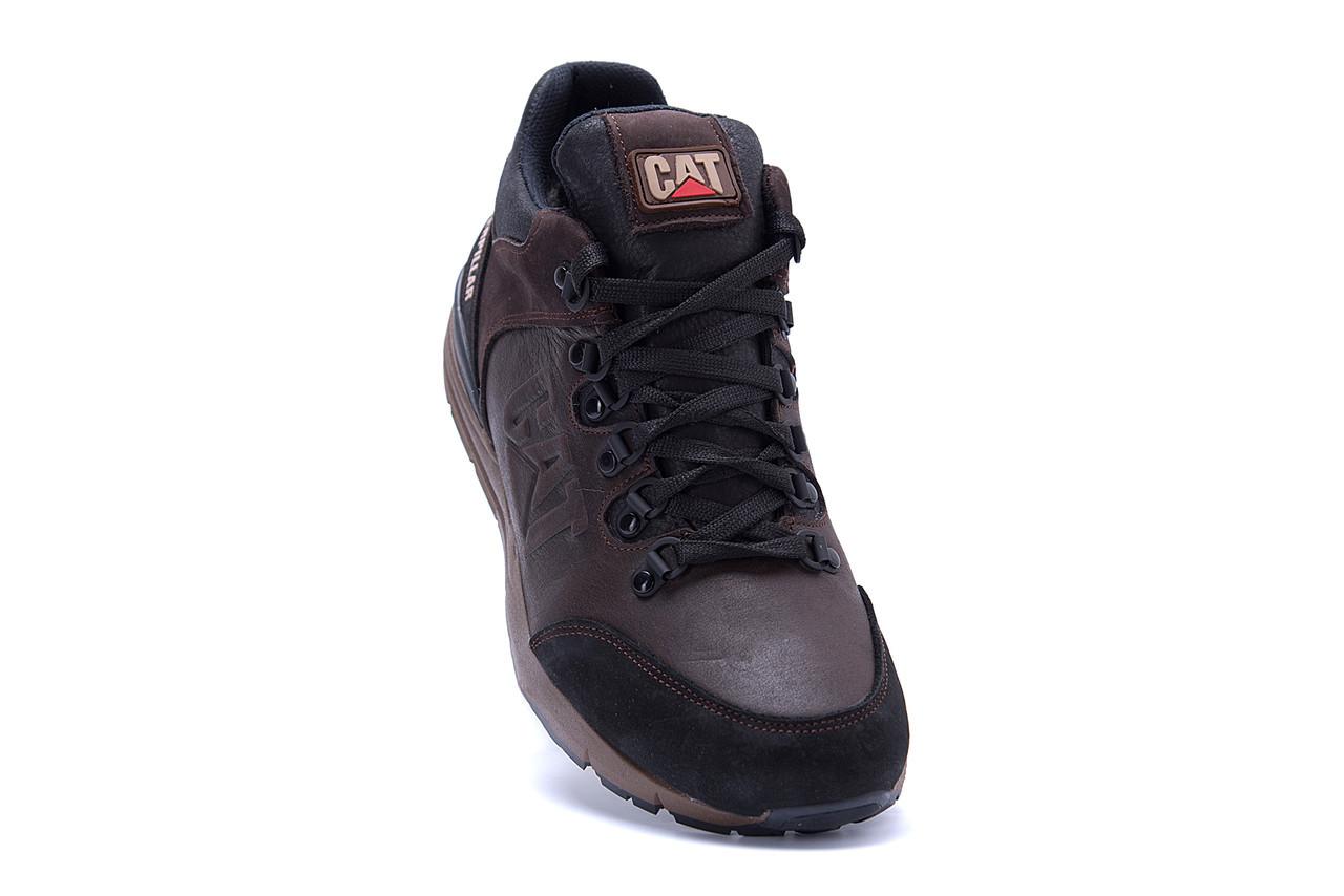 Мужские зимние кожаные ботинки CATERPILLAR Chocolate  (реплика) 2