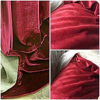 Красная ткань для штор велюр, софт, плюш, бархат Velur. Турецкая ткань для штор.