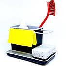 Органайзер для кухонных губок и моющего средства (черный), фото 2