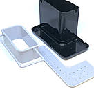 Органайзер для кухонных губок и моющего средства (черный), фото 4