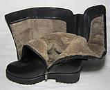 Распродажа 37 38 размер Зимние ботфорты кожа, фото 5