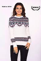 Теплый свитер с модной вязкой Турция