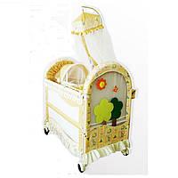 Кроватка детская BC-382 - Beige/green