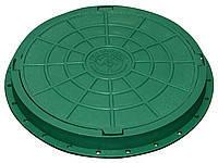 Люк пластиковый садовый (зеленый) с замком