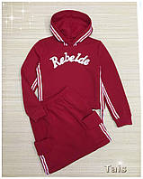 """Костюм толстовка с юбкой """"Rebelde""""для девочки код 0086/1 (р.122-152)"""