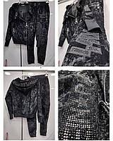 Женский черный теплый велюровый костюм PHILIPP PLEIN ТУРЦИЯ БРЕНД ОРИГИНАЛ