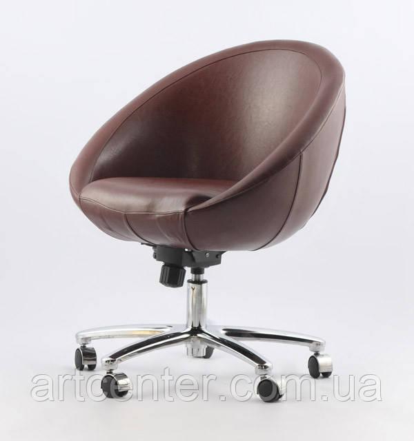 Кресло на колесиках, передвижное Marbino Office Sancafe (коричневое)