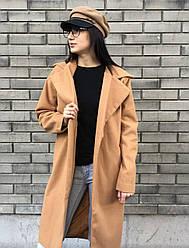 Легкое женское бежевое пальто опт