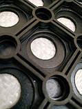 """Коврик резиновый """"Сота"""" 40х60 см. Придверный. От грязи, снега, слякоти. Индия, фото 2"""