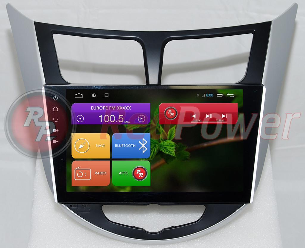 Штатная автомагнитола Redpower RP51067RIPS IPS для Hyundai Accent RB, HB Android 4.4+ CarPad 4