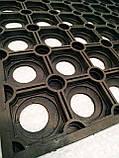 """Коврик резиновый """"Сота"""" 40х60 см. Придверный. От грязи, снега, слякоти. Индия, фото 4"""