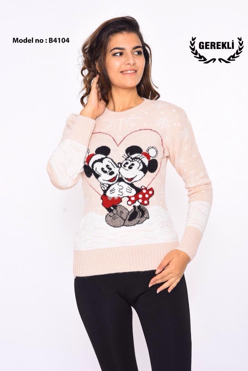 Теплый свитер Микки Маус Турция