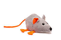 Мягкая игрушка Мышка серая 22 см, фото 1