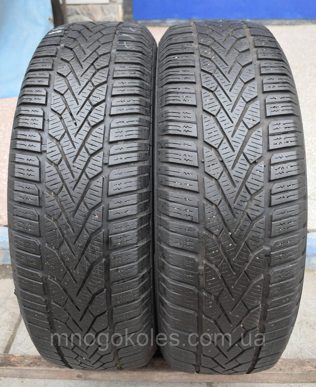 Шины б/у 195/65 R15 Semperit Speed Grip 2, ЗИМА, 5+ мм, пара