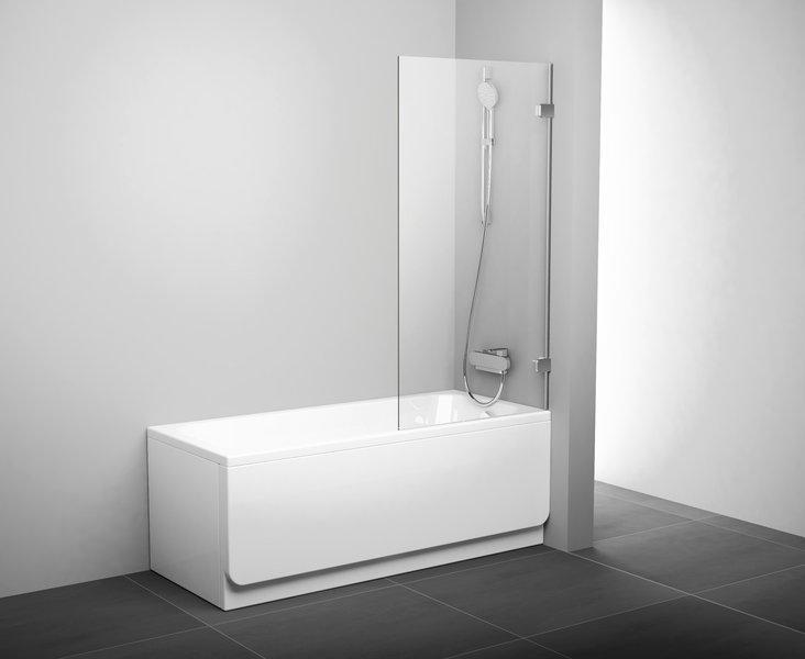 Штора для ванны неподвижная Ravak BVS1-80 Transparent 1500х800 одноэлементная