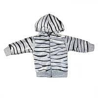 Куртка детская махровая стрижка серая