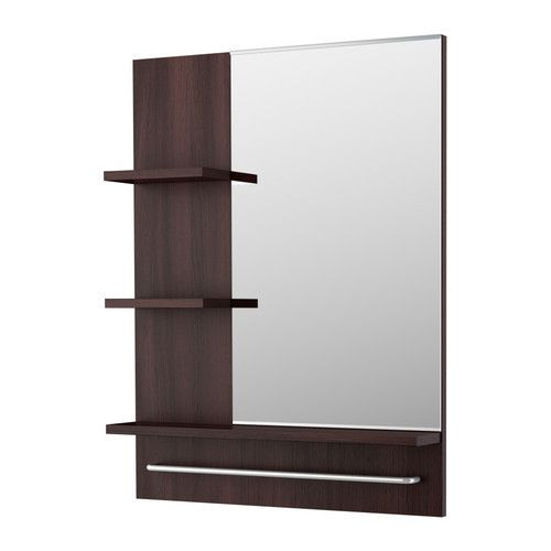 "ИКЕА ""ЛИЛЛОНГЕН"" Зеркало, черно-коричневый"