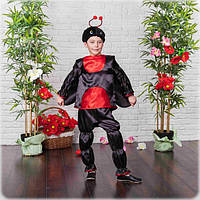 Карнавальный костюм для мальчика Божья коровка 110-122р