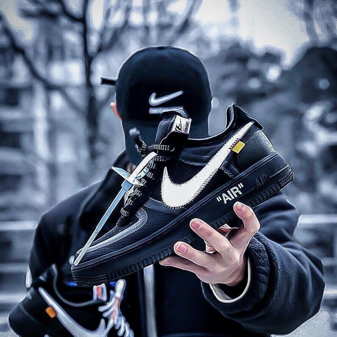 """Мужские кроссовки в стиле Nike Air Force 1 Low Off White  """"Black """" ( в стиле Найк )"""