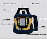 Лазерный нивелир ротационный Fukuda FRE-207 LCD-G Зеленый луч green, фото 2