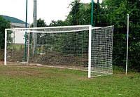 Ворота футбольные 7320х2440 (разборные), алюминиевые Евро профиль