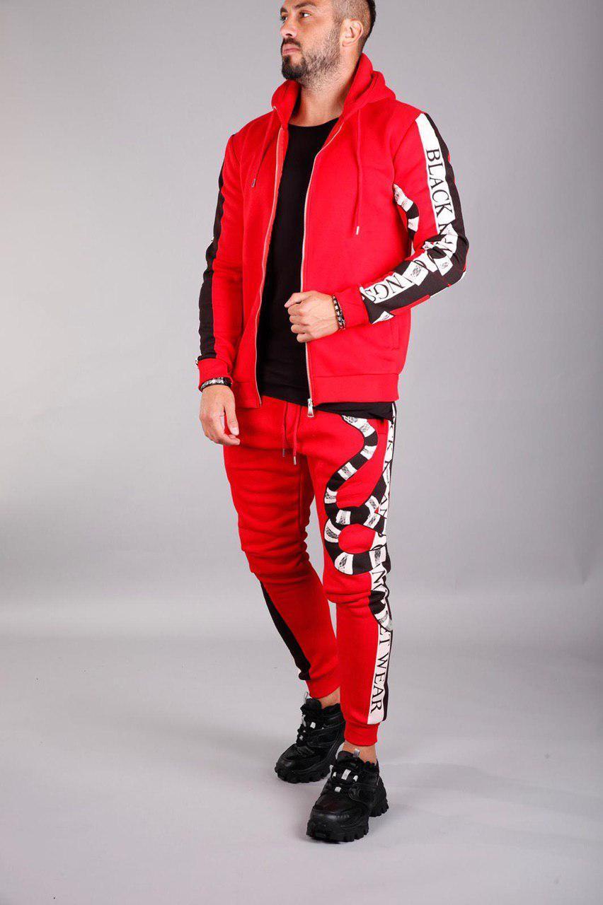 Мужской спортивный костюм утепленный Black Island 2070 red