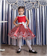 Красное ажурное платье Стиляги, Минни Маус,  на 110-116, 116-128, 130-140