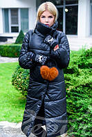 Куртка удлиненная чёрная Gepur