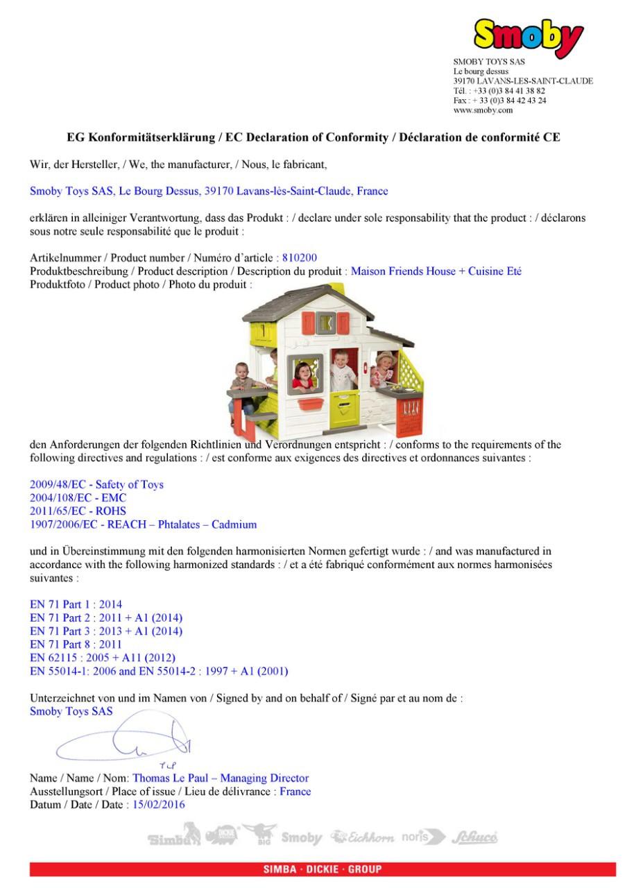 Игровой домик с кухней Smoby 810200 . Домик для детей, фото 7