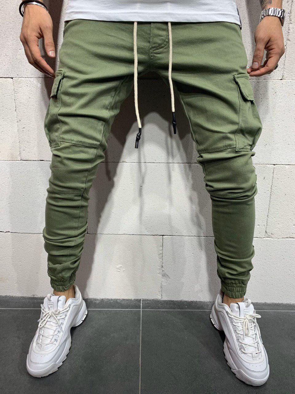 Мужские джинсы-карго 2Y Premium 4838 green
