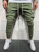 Мужские джинсы-карго 2Y Premium 4838 green, фото 1