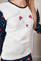 Женская пижама махра размеры 44-50 цвет серый