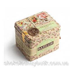Зеленый чай Basilur Зеленый подарок, коллекция Подарок, ж/б 100г