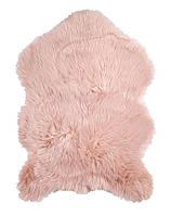 Коврик из меха, розовый цвет