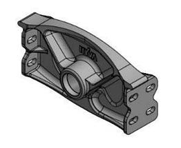Комплект креплений цилиндра Hyva 01506141 CHASSIS BRACKET 286 D60 110-129-149
