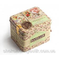 Зеленый чай Basilur Розовый подарок, коллекция Подарок, ж/б 100г