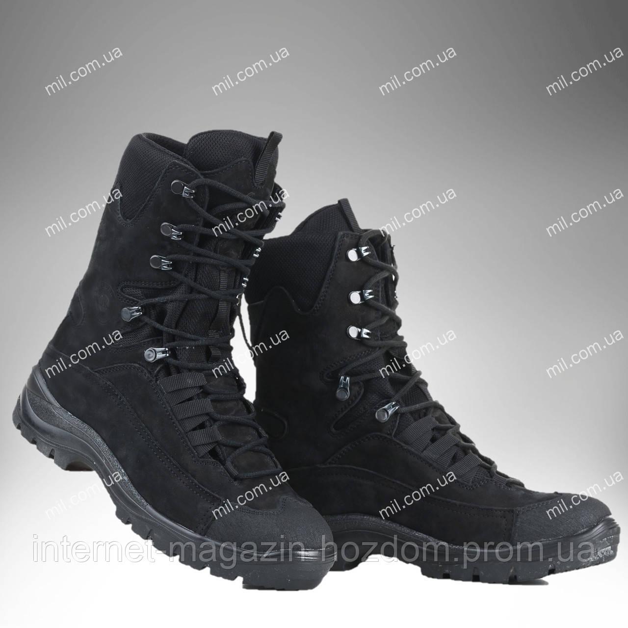 Берцы зимние / военная, тактическая обувь GROM (черный)