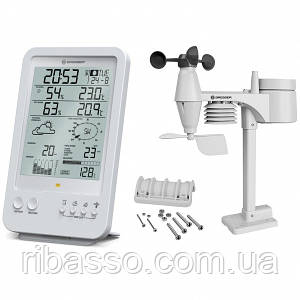 Метеостанция Bresser Weather Center 5-in-1 White