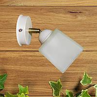 """Настенный светильник, спот поворотный, потолочная лампа, на одну лампу, белый цвет """"COMPACT/SLEEVE-WP"""""""