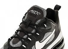 """Кроссовки Nike Air Max 270 React Optical Black Off Noir """"Черные / Серые"""", фото 3"""