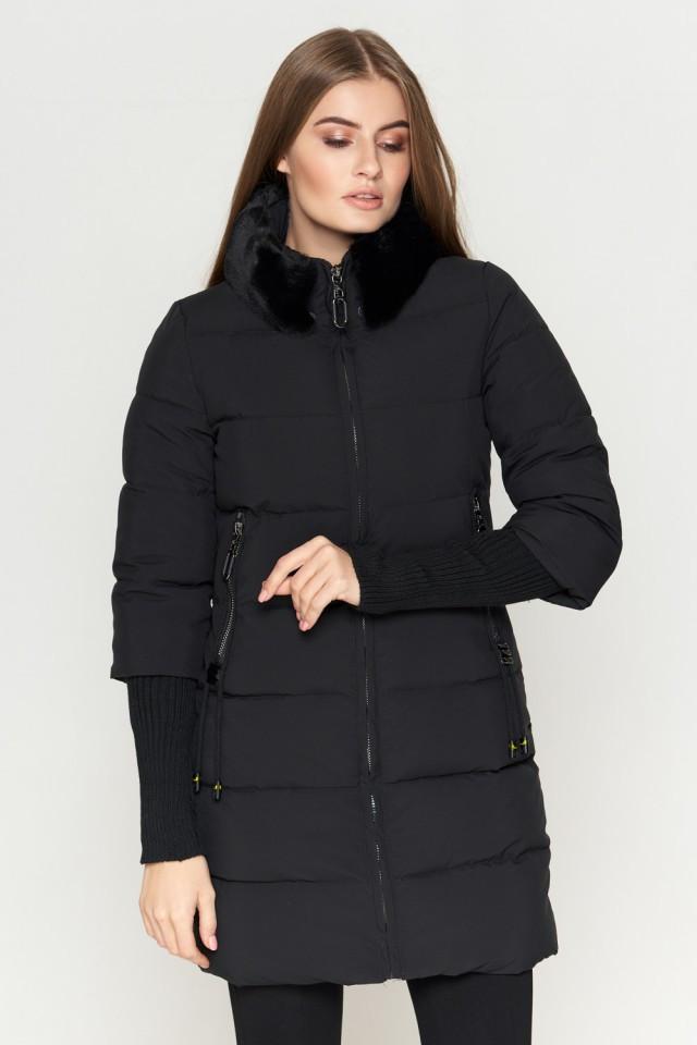 Женская куртка Braggart Kiro Tokao стандартной длины зимняя черная размер 48 50 52 54