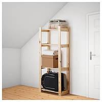 IKEA АЛЬБЕРТ, книжный шкаф, доктор мягкая сосна, 64x28x159 см, (001.119.94)