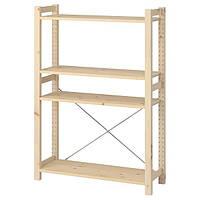 IKEA IVAR, книжный шкаф, сосна, 89x30x124 см, (893.097.22)