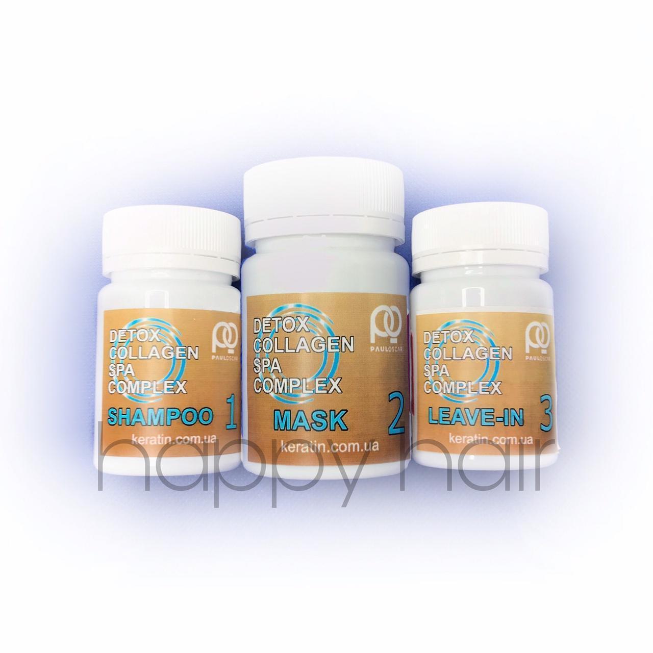 Paul Oscar Collagen Detox SPA Complex Набор для кератинового выпрямления 30/50/30 мл