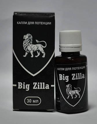 Big Zilla - Капли для повешения потенции (Большая Зилла), Биостимулятор усиливает оргазм, укрепляет эрекцию, фото 2