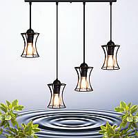 """Подвесной металлический светильник, современный стиль, loft, vintage  """"SANDBOX-4"""" Е27  черный цвет"""