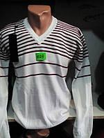 Молодежный мужской белый джемпер 44-48 рр