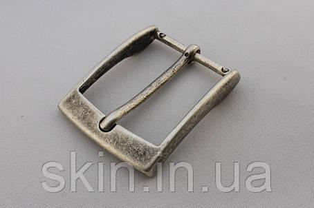 Пряжка ременная, ширина - 35 мм, цвет - старое серебро, артикул СК 5301, фото 2